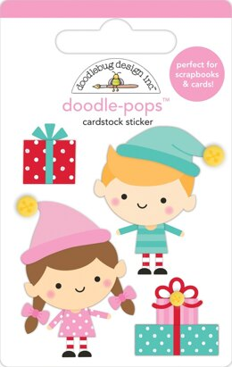 Doodlebug Doodle-Pops 3D Stickers - Santa's Helpers, Christmas Magic