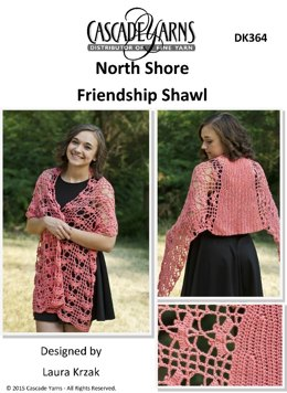 Friendship Shawl in Cascade North Shore - DK364