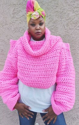 Pink Friday Cropped Sweater