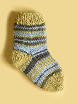 Knit Child's Striped Socks in Lion Brand Wool-Ease - 70290A