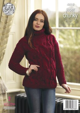 Sweater & Poncho in King Cole Big Value Super Chunky Twist - 4618 - Downloadable PDF