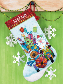 Dimensions Santa's Sidecar Stocking Cross Stitch Kit - 41cm