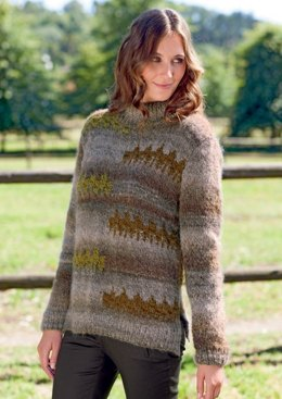 Jumper in Bergere de France Cyclone and Cocoon - 42734