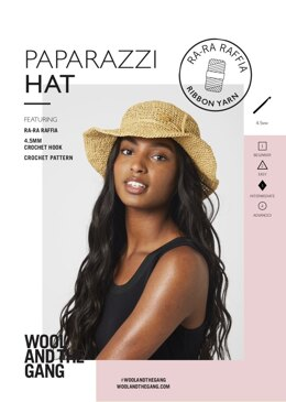 Paparazzi Hat in Wool and the Gang Ra-Ra Raffia - Leaflet
