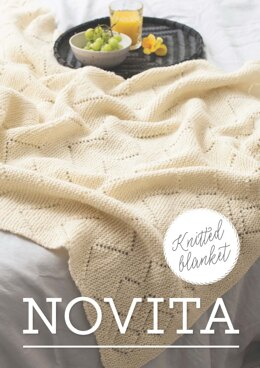 Knitted Blanket in Novita Nordic Wool - Downloadable PDF