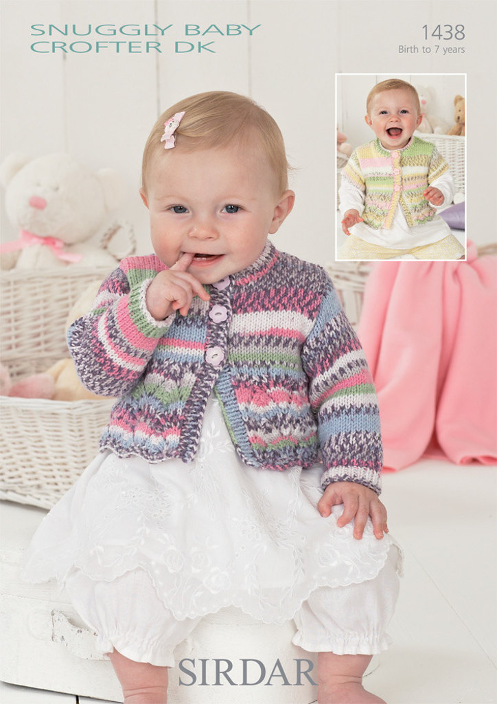 Cardigans in Sirdar Snuggly Baby Crofter DK - 1438 - Downloadable PDF