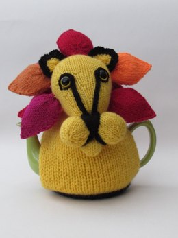 Tingatinga Lion Tea Cosy Knitting Pattern