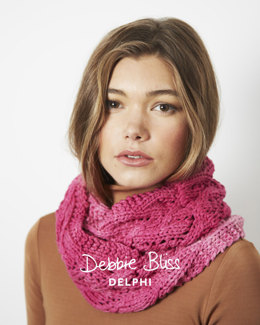 Lace Cowl in Debbie Bliss Delphi - Downloadable PDF