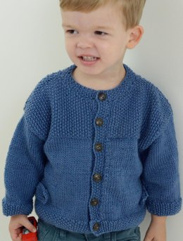 Boys Textured Cardigan in Ella Rae Cozy Soft Solids - ER-1039 - Leaflet