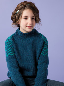 Brogan Sweater in Rowan Pure Wool Worsted