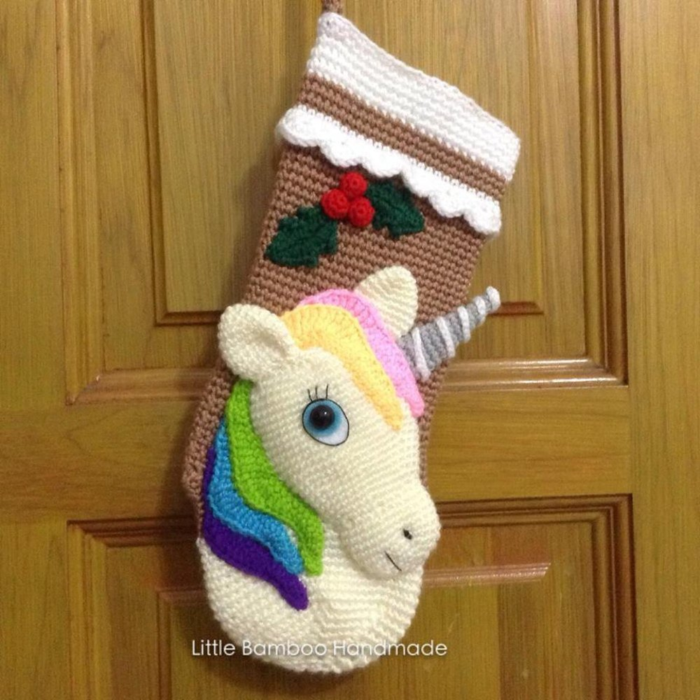 Unicorn christmas stocking crochet pattern by little bamboo handmade zoom bankloansurffo Image collections