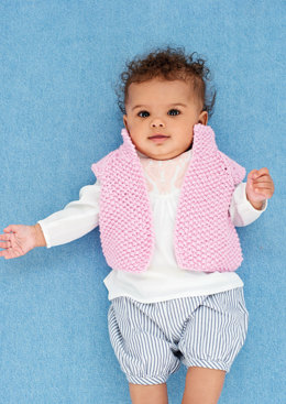 Waistcoat and shoes in Rico Baby Cotton Soft DK - 400 - Downloadable PDF