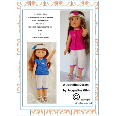 LC04 Top Down Cardi Set for 13 and 14inch Dolls