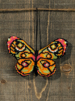 Permin Pink and Green Butterfly Cross Stitch Kit