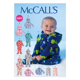 McCall's Infants' Jackets, Bodysuits and Pants M7039 - Sewing Pattern