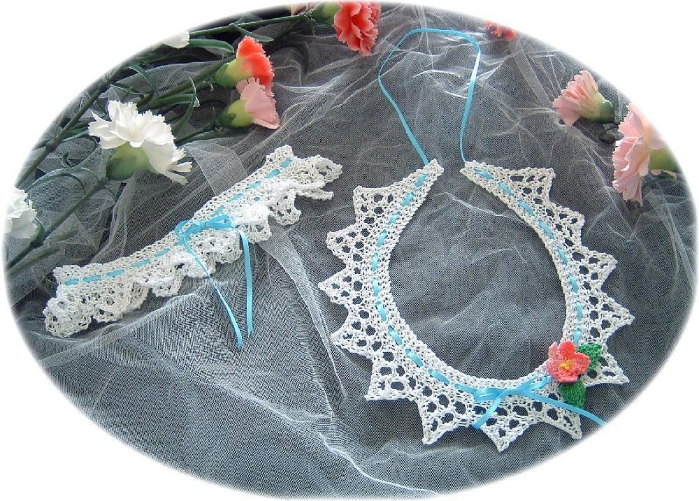 Knitted Wedding Horseshoe And Garter Knitting Pattern By