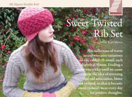 Sweet Twisted Rib Set in UK Alpaca Baby Alpaca Silk DK