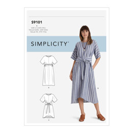 Simplicity Misses' Pullover Dresses In Two Lengths S9101 - Sewing Pattern