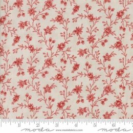 Moda Fabrics 3 Sisters Snowberry Cloud Berry Floral Vine Red