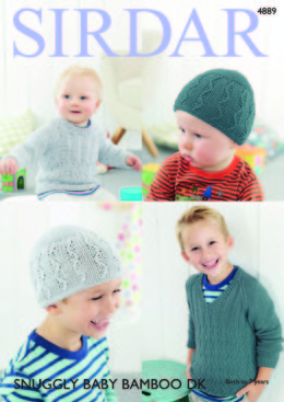 Boy's Sweaters & Hat in Sirdar Snuggly Baby Bamboo DK - 4889 - Downloadable PDF