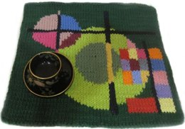 Green Square Placemat (Kandinsky)