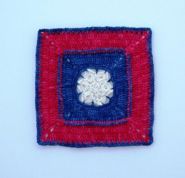 "Patriot Star - 8"" square"