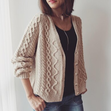 Cabled Cardigan