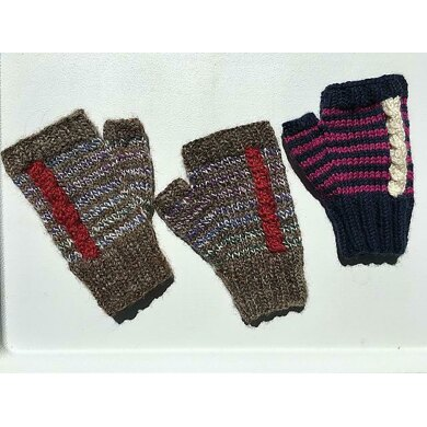 Perpendicular Cable Mitts