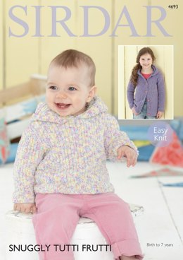 Girls Sweater and Cardigan in Sirdar Snuggly Tutti Frutti - 4693