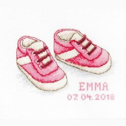 Luca-S Baby Shoes Girl Cross Stitch Kit