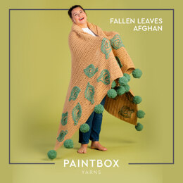 Fallen Leaves Afghan - Free Afghan Crochet Pattern For Home in Paintbox Yarns Wool Mix Super Chunky by Paintbox Yarns