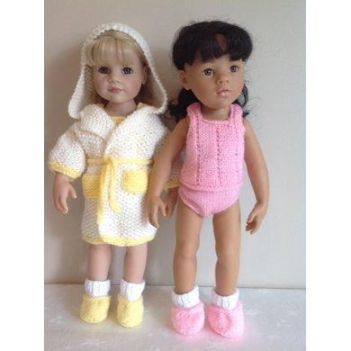 """Dressing gown set for 18"""" Dolls"""