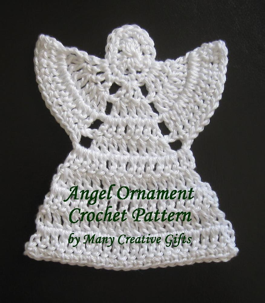 Crochet Angel Baptism Gift Christmas Lace Angel Ornament Tree: Angel Ornament Crochet Pattern By Many Creative Gifts
