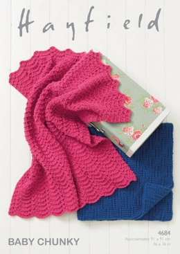 Blankets in Hayfield Baby Chunky - 4684- Downloadable PDF