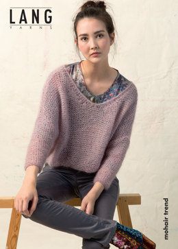 Pullover ENG in Lang Yarns Mohair Trend