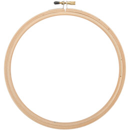Frank A. Edmunds Wood Embroidery Hoop W/Round Edges 8in