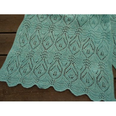 Fairy Leaves on the Waves Shawl