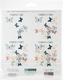 """Concord & 9th Clear Stamps 6""""X6"""" - Butterfly Love Turnabout"""