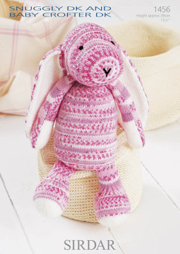 Toy Rabbit in Sirdar Snuggly Baby Crofter DK and Snuggly DK - 1456