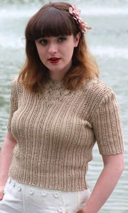 Knitters Delight Sweater in Susan Crawford Coquette 4 Ply Vintage Cotton