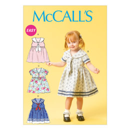 McCall's Toddlers' Dresses and Tie Ends M6913 - Sewing Pattern