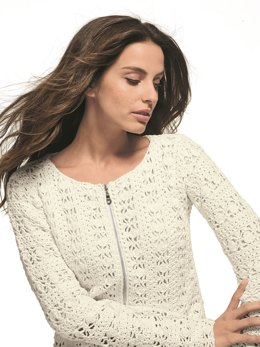 Women Zipped Cardigan in Bergere de France Coton Fifty - 71136-272 - Downloadable PDF