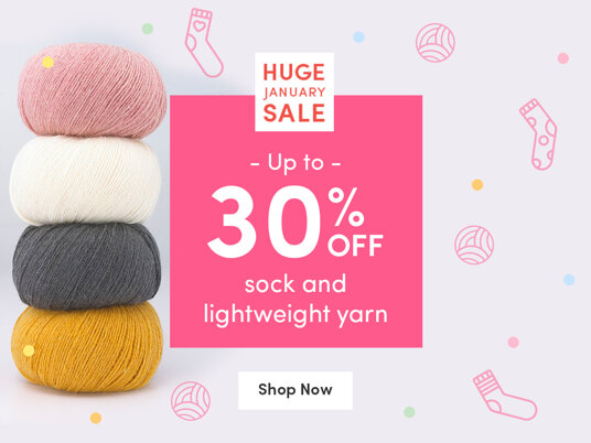 Up to 30 percent off sock and lightweight yarn!