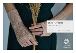 """Erte Mittens by Agata Mackiewicz"" - Mittens Knitting Pattern For Women in The Yarn Collective"