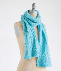 Scarf in Blue Sky Fibers Techno