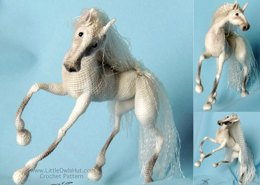 043 Horse White Dream with wire frame Amigurumi Ravelry