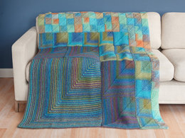 Modular Miters Afghan in Lion Brand Tweed Stripes - L20385