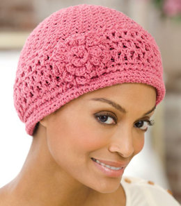 Chemo Cap in Red Heart Eco-Cotton Blend Solids - LW2253  - Downloadable PDF