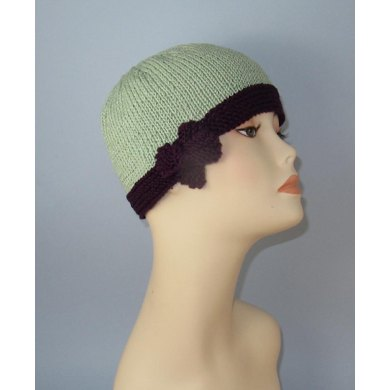 Tie Up Bow Beanie Circular Knitting Pattern