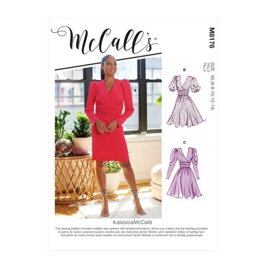 McCall's Misses' Dresses M8176 - Sewing Pattern